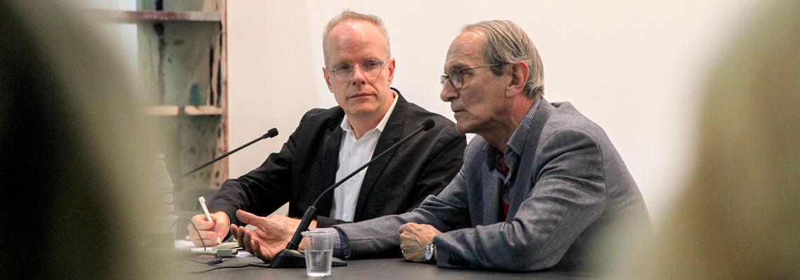 Giorgio Griffa e Hans Ulrich Obrist