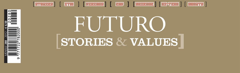 Una porzione della copertina di ALP280 - Futuro - Stories & Values