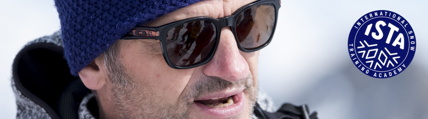 "Dominique Perret ci illustra il metodo ISTA in una mattinata ""Discovery"" a Verbier (foto G. Caresio)"